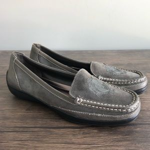 Etienne Aigner E-Kylie Gray 9 M Flat Loafer Shoes